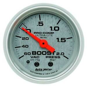 Autometer Ultra Lite 2 1 16 Boost Vacuum 60 Cm Hg 2 0 Bar Gauge