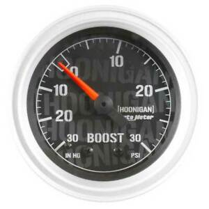Autometer Hoonigan 2 1 16 Vacuum Boost 30in Hg 30psi Mechanical Gauge