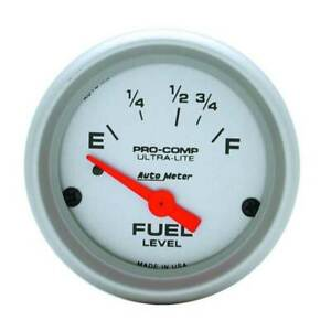 Autometer Ultra lite 2 1 16 Fuel Level 16 158 Ohm Gauge