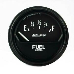 Autometer Auto Gage 2 5 8 Fuel Level 0 90 Ohm Gauge For Chevrolet gm 1965 1997