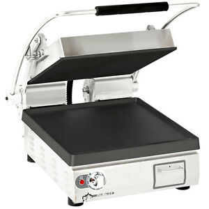 Star Pst14i Pro max 14 Single Panini Grill Smooth Iron Plate No Timer
