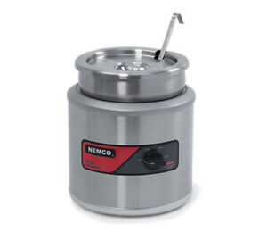 Nemco 6103a icl 11 Quart Round Cooker Warmer W Inset Cover Ladle