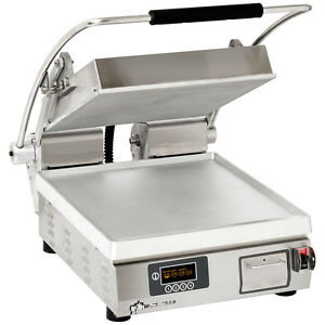 Star Pst14e Pro max Panini Grill Smooth Alum Plates Single 10 3 8 x23