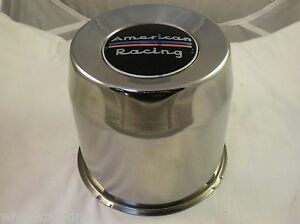 American Racing Wheels Chrome Custom Wheel Center Caps New