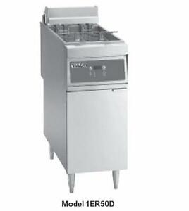 Vulcan 1er50d 1 50lb Electric Solid State Deep Fryer W Digital Control