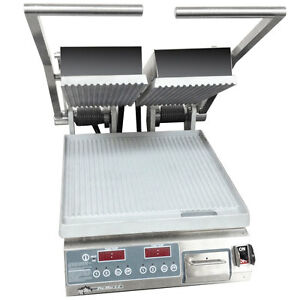 Star Pgt14d Pro max Panini Grill Alum grooved Plates Electronic Control
