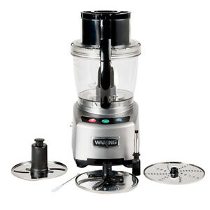 Waring Wfp16s 4 Quart Food Processor 2 Hp W S blade Discs 120v