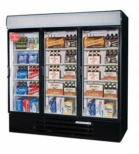 Beverage air 72 Cuft Lumavue Three door Reach in Cooler W Led Lighting