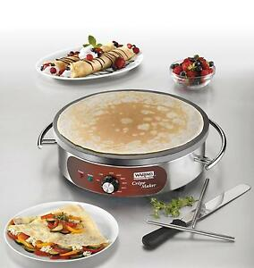 Waring Wsc165bx Countertop 16in Electric Crepe Maker W Spatula 208 240v