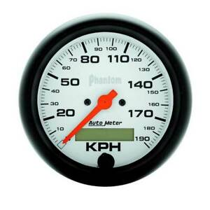 Autometer Phantom 3 3 8 Speedometer 0 190 Kph Gauge