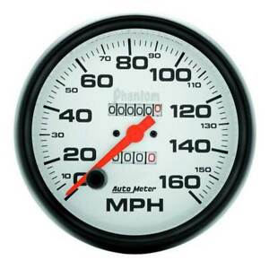 Autometer Phantom 5 Mechanical Speedometer 0 160 Mph Gauge