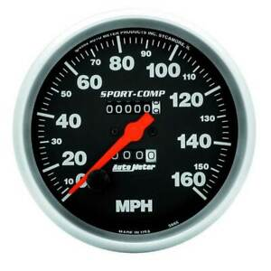 Autometer Sport Comp 5 Speedometer 0 160 Mph Traditional Odometer Gauge
