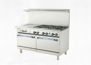 Radiance 60 Restaurant Gas Range 2 Std Ovens 6 Burners 24 Griddle