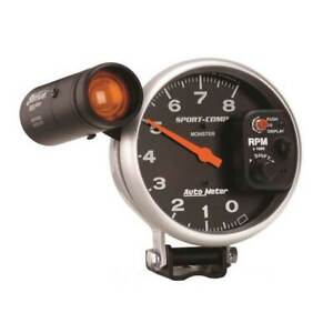 Autometer Sport Comp 5 Pedestal Tachometer 0 8000 Rpm Gauge W Ext Shift Light