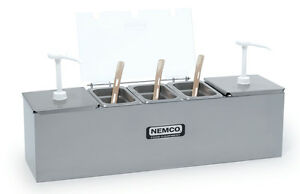 Nemco 88100 cb Hot Dog Condiment Bar Station With 2 3 Qt Pumps