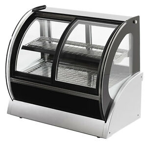 Vollrath 40880 36 Curved Glass Cooler Display Case W Front Rear Access