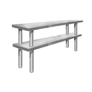 Elkay Foodservice 96 X 18 Table mounted Double Deck Stainless Steel Overshelf