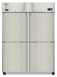 Hoshizaki Cf2s hs 51 Cu ft Four Split Solid Door Reach In Freezer