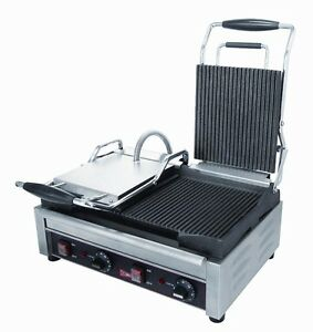 Gmcw Sg2lg Double Grooved Sandwich Press Panini Grill 240 V