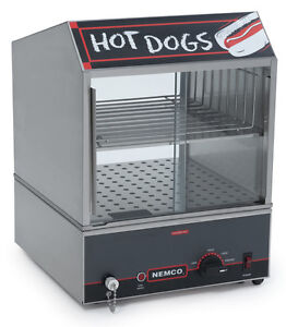 Nemco 8300 Hot Dog Steamer Electric Holds 150 Dogs 30 Buns Nsf