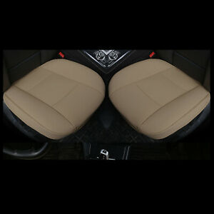 2 Pcs Pu Leather Car Seat Cushion Car Seat Covers For Vw Toyota Honda Bmw Audi