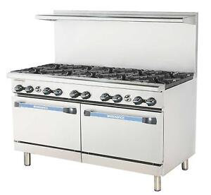 Radiance Tar 10 60 Restaurant Gas Range W 10 Burners And 2 Ovens