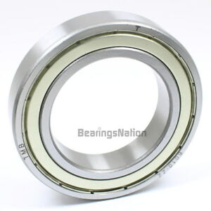 Stainless Steel Radial Ball Bearing S6010 zz With 2 Metal Shields