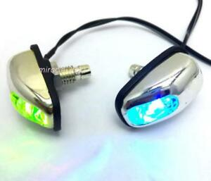 2x Color Led Light Lamp Car Track Windshield Jet Spray Nozzle Wiper Washer Eyes