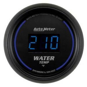 Autometer Cobalt Digital 2 1 16 Water Temperature 0 340 f Gauge