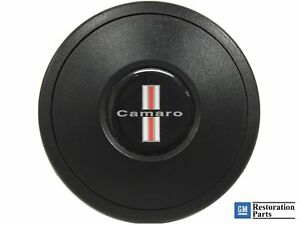 Vsw Standard S9 Black Horn Button With Tri bar Chevy Camaro Emblem