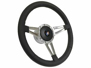 1969 1994 Buick S9 Sport Leather Steering Wheel Slotted 3 Spoke