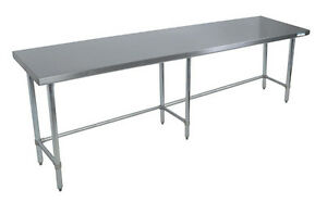 Bk Resources 96 x 24 Work Table W 18g Stainless Steel Top W Open Base