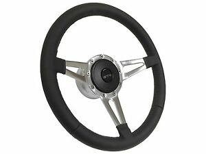 1969 1973 Pontiac Gto S9 Sport Leather Steering Wheel Kit Slotted 3 spoke