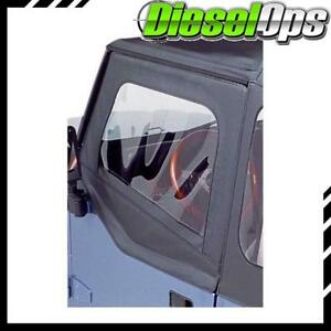 Bestop Soft Upper Half Doors Black For Jeep Wrangler 1988 1995