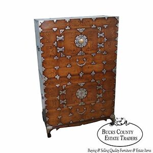 Antique Korean Stacked Dovetailed Chest On Chest