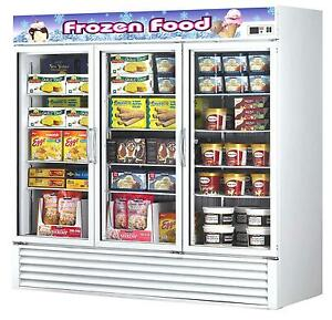Turbo Air Tgf 72f n 72cf Commercial Freezer W 3 Swinging Glass Doors White