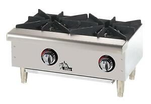 Star 602hwf Star max Side by side 2 Burner Countertop Gas Hot Plate