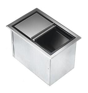 Krowne Metal D278 20 X 15 Drop in Ice Bin Insulated With Sliding Cover S s