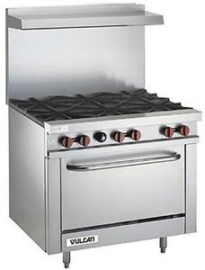 Vulcan 36sff 6bn Endurance 36 Range With 6 Burners And Bakery Depth Oven nat