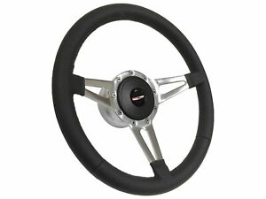 1955 1957 Chevy Tri Five S9 Sport Leather Steering Wheel Kit Slotted Spokes