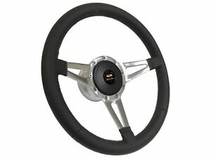 1955 1957 Chevy 210 S9 Premium Leather Steering Wheel Kit Slotted 3 spoke