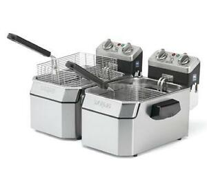 Waring Wdf1550d Dual 15lb Counter Top Deep Fryer Electric 240v