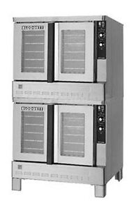 Blodgett Zephaire Std Depth Double Deck 100k Btu Gas Convection Oven