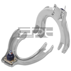 For 88 91 Civic crx Steel Silver Adjustable Front Upper Suspension Camber Kit