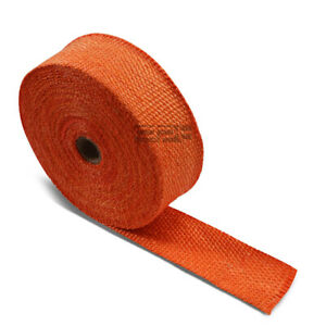 10m 393 2 W Header Manifold Downpipe Piping Exhaust Insulating Orange Heat Wrap