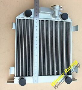Aluminum Radiator Fit Ford Lowboy Chopped W Flathead V8 Engine 1932 1939