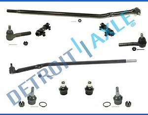 10p Complete Front Tie Rod Suspension Kit For 2006 Ford E 150 Cargo Van
