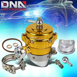 50mm Aluminum Gold Turbo Turbocharger Bov Blow Off Valve Trumpet 35 Psi Boost