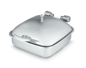 Vollrath 46132 6qt Square Solid Top Induction Chafer W Stainless Food Pan