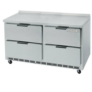 Beverage air Wtrd48ahc 4 48 Worktop Refrigerator With 4 Heavy Duty Drawers